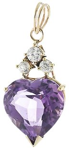 Heart,Amethyst,14k,Yellow,Gold,Ladies,Pendant