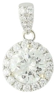 Other Diamond Halo Pendant - 14k White Gold 1.35ctw