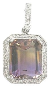 Other Fine,Gem,Ametrine,Diamond,Big,Square,White,Gold,Pendant,12.26ct