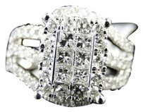 14k,Xl,Ladies,White,Gold,Princess,Diamond,Fashion,Engagement,Wedding,Ring,2,Ct