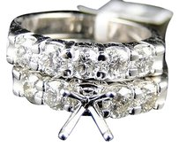 14k,Womens,White,Gold,Diamond,Wedding,Semi,Mount,Engagement,Band,Ring,1.80,Ct