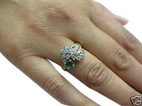 Fine,Estate,Green,Colombian,Emerald,Diamond,Ring,Yg,14k