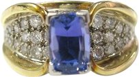 Fine,Gem,Tanzanite,Diamond,Designer,Jewelry,Ring,3.06ct
