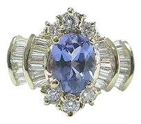 Fine,Gem,Tanzanite,Multi,Shape,Diamond,Yellow,Gold,Anniversary,Ring,2.46ct