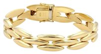 Other Cartier 18k Yellow Gold Row Long Gentiane Rice Link Bracelet