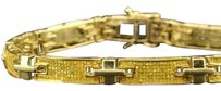 Genuine Yellow Diamond Bracelet 8.5 Round Cut Pave Set 10k Yellow Gold 1.40 Ct