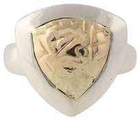 Other Chunky Unique 2-toned Ring - Sterling Silver 14k Yellow Gold 5.25