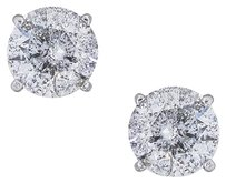 14k White Gold 6.24ctw Diamond Stud Earrings