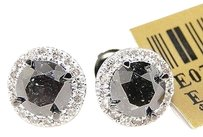 Mens,Ladies,Round,Cut,Solitaire,Black,And,White,Diamond,Stud,Earrings,1.52,Ct