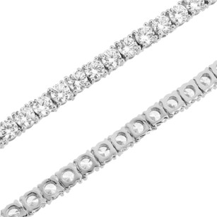 Tennis Link Necklace 4mm Chain Solitaire Simulated Diamond 18-24 Inch 1 Row
