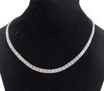 Other 18kt Round Cut Diamond White Gold Riviera Necklace 16 108-stones 8.03ct