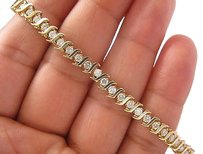 Fine,Round,Cut,Diamond,Tennis,Bracelet,Yg,14kt,2.64ct