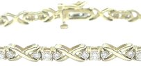 Other Fine,Round,Cut,Diamond,X,Yellow,Gold,Tennis,Bracelet,14kt,2.10ct,7