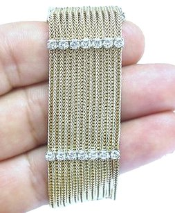 Fine,12-row,5-stationary,Diamond,Yellow,Gold,Bracelet,3.00ct