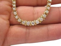 Fine Round Cut Diamond Graduated Riviere Tennis Necklace Yg 4.76ct
