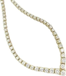 14kt,4-prong,Round,Cut,Diamond,Graduated,Riviera,Necklace,Yellow,Gold,6.26ct