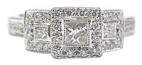 Other Fine,3-stone,Multi,Shape,Diamond,Engagement,Ring,Wg,.35ct