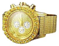 Jewelry Unlimited Jojino Joe Rodeo Mm Simulated Canary Diamond Watch