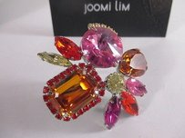 Joomi Lim Pretty Bijoux Ring Pinkn Orange