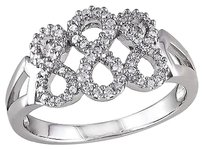 Sterling Silver 14 Ct Diamond Swivel Crossover Infinity Journey Ring Gh I2i3