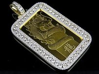 K Solid Dragon Coin Bar 1 Oz Pamp Suisse Swiss Custom Pendant Charm Ct