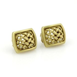 Other Kieselstein Cord 18kt Yellow Gold Woven Open Design Stud Earrings