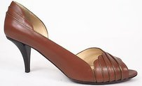 Other Ojour Tobacco Kitten Dosay Peep Toe Heels Brown Pumps