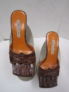 Other Luciano Padovan Leathe Croc Embossed Sandals 235kw Browns Pumps