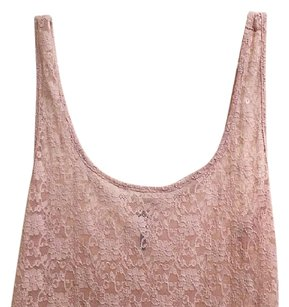 Other Lace Lacy Floral Top nude
