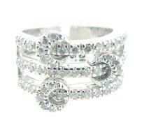 Ladies 18k White Gold 75 point Diamond Ring