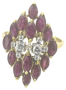 Other Ladies 18k Yellow Gold Ruby & Diamond Ring