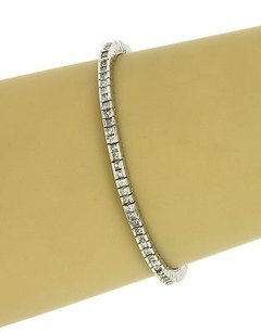 Other Lavish 14k White Gold Carats Princess Cut Diamonds Ladies Tennis Bracelet 7