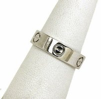 Cartier 950 Platinum Love Screw Band Ring -5.5mm -size 56