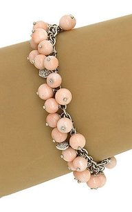 Other Lovely 18k Wgold .60ctw Diamond Multi Beads Angel Skin Coral Bracelet