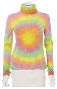Other Lucien Pellat Finet 100 Cashmere Ls Longsleeve Turtleneck Tye Dye Sweater