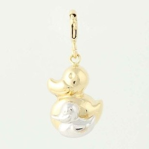 Mama Duck Duckling Charm - 14k Yellow White Gold Mothers Baby Gift