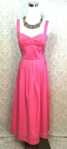 Pink Maxi Dress by Other Kevan Hall Paul Stanley Pleated Maxi