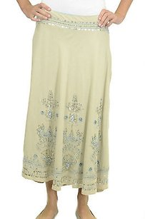 Mix Nouveau York Linen Maxi Skirt Beige