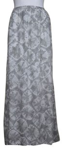 Other Alternative Womens White Rayon Long Casual Maxi Skirt Gray