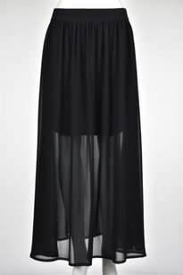 Wilster Womens Maxi Skirt Black