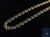 Mens 10k Solid Yellow Gold 3mm Flat Mariner Link Style Chain 16-26 Inches