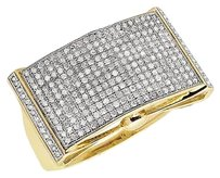 Other Mens 10k Yellow Gold Pave Diamonds Statement Pinky Ring 1.3ct 15mm