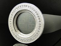 Mens 52mm Technolink Joe Rodeo Simulated Clear Diamond Watch Ct