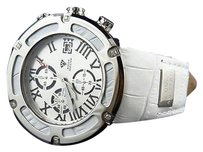 Mens Aqua Master El Russo W346 46mm Stainless Steel White Diamond Watch 0.20 Ct