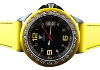 Mens Aqua Master Sports Black Yellow Two Tone Diamond Watch 43mm W337 0.25 Ct