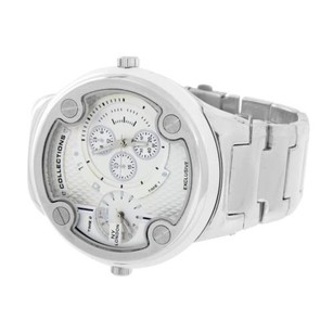 Mens Face Watch Ny London Silver Tone Time Zone Look Designer Party Wear