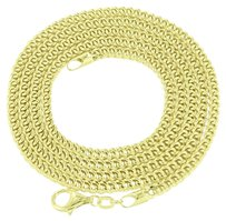 Mens Franco Link Chain 10k Real Yellow Gold Mm Necklace Inch Sale