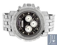 Mens Jojojojino Big Face Stainless Steel Mm 0.25 Ct Diamond Watch Mj-1221