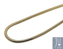 Mens Real 10k Yellow Gold Snake Chain Necklace Mm 24-30 Inches