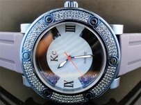 Mens Techno Com Kc Joe Rodeo Master Floating Genuine Blue Diamond Watch 2.7 Ct